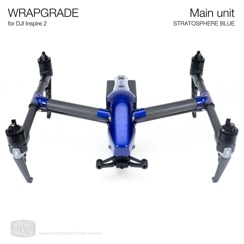 WRAPGRADE for DJI Inspire 2 | Main Unit (STRATOSPHERE BLUE)