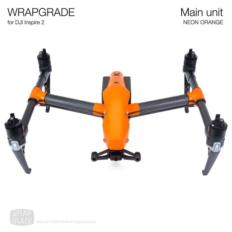 WRAPGRADE for DJI Inspire 2 | Main Unit (NEON ORANGE)