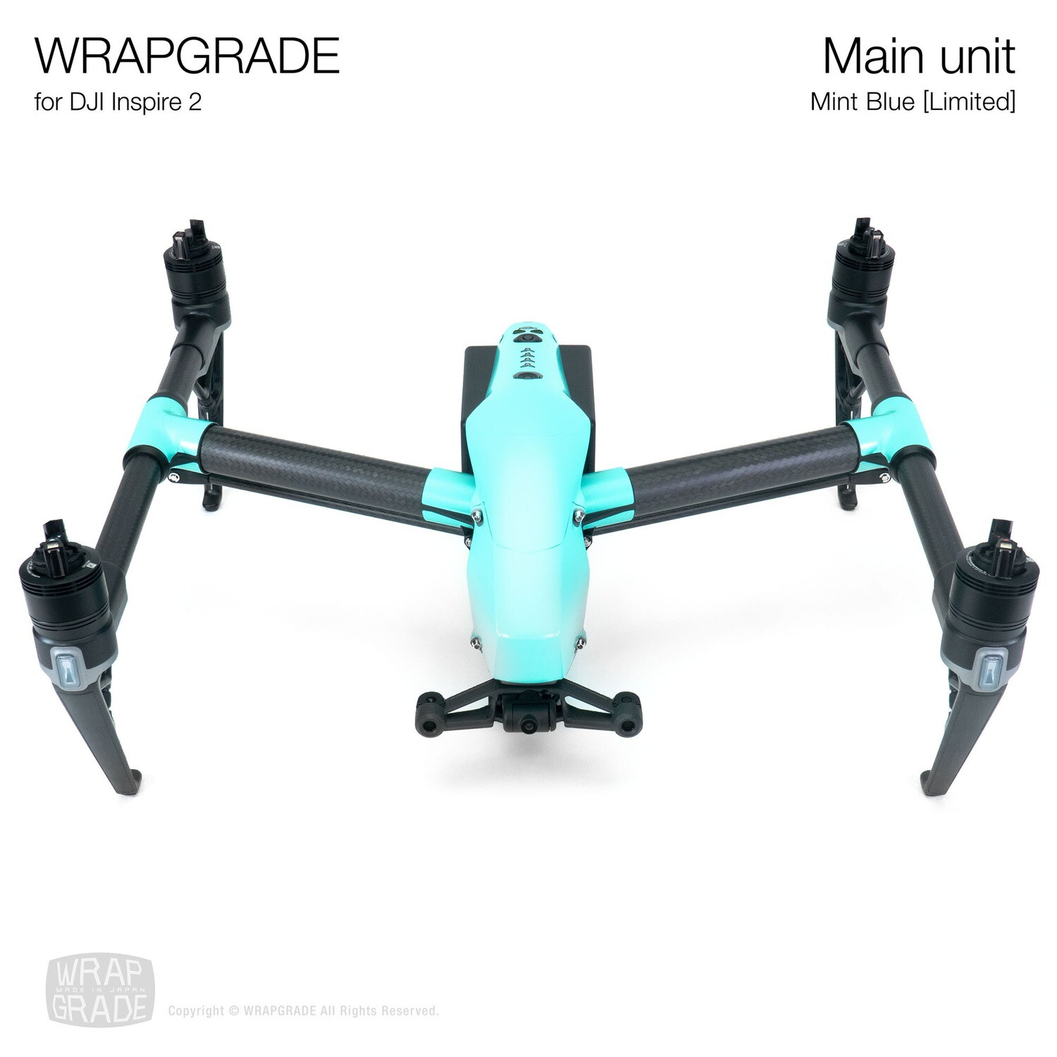 WRAPGRADE for DJI Inspire 2 | Main Unit (MINT BLUE)