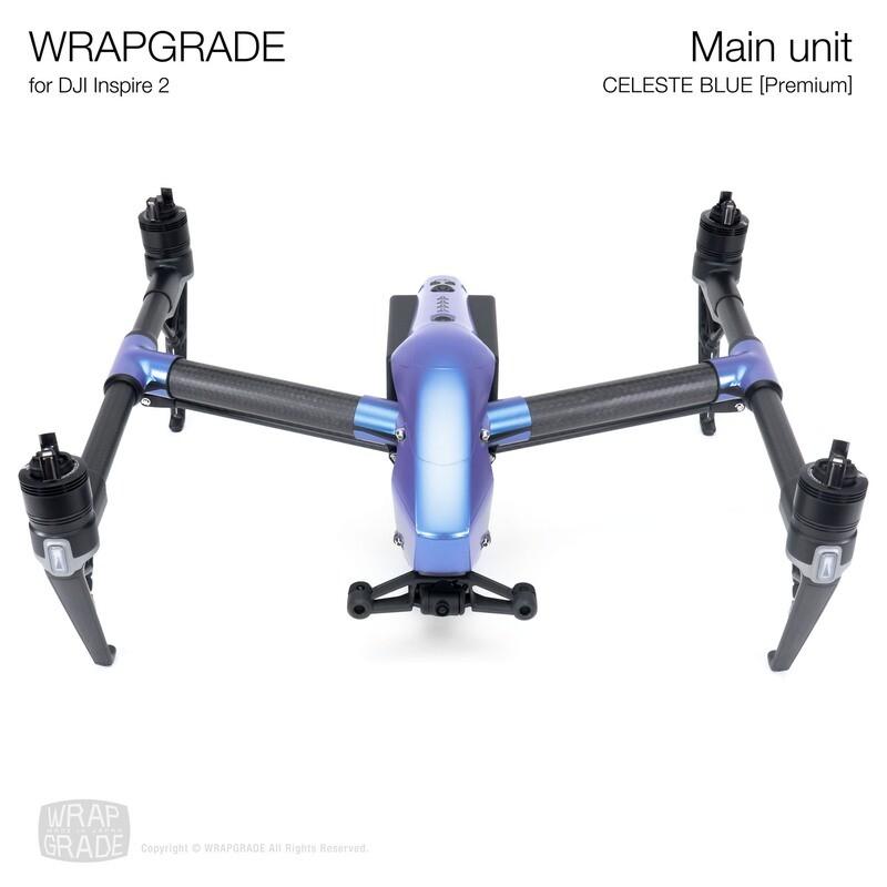 WRAPGRADE for DJI Inspire 2 | Main Unit (CELESTE BLUE)