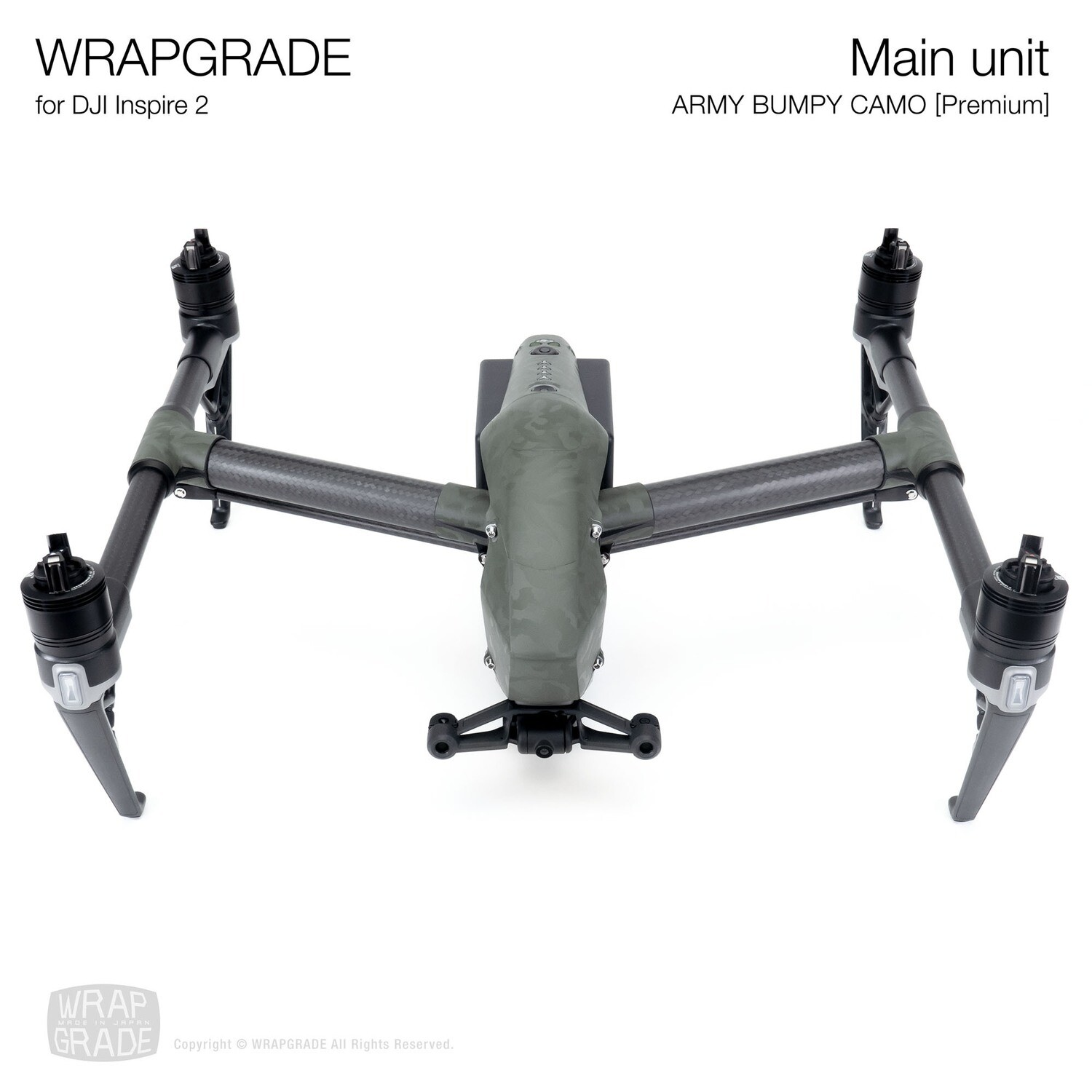 WRAPGRADE for DJI Inspire 2 | Main Unit (ARMY BUMPY CAMO)