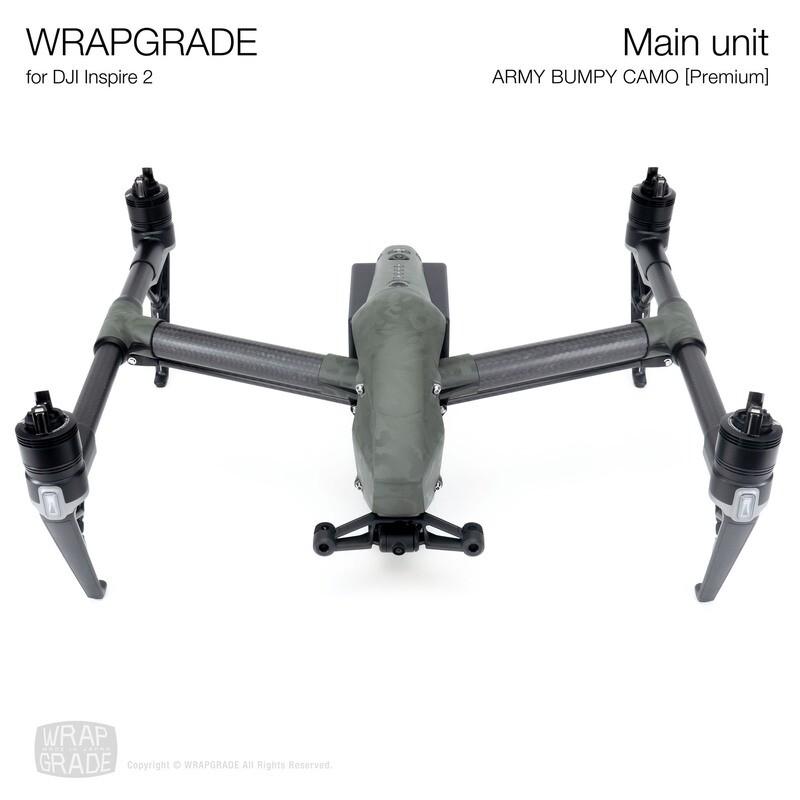 WRAPGRADE for DJI Inspire 2 | Main Unit (ARMY BUMPY CAMO)