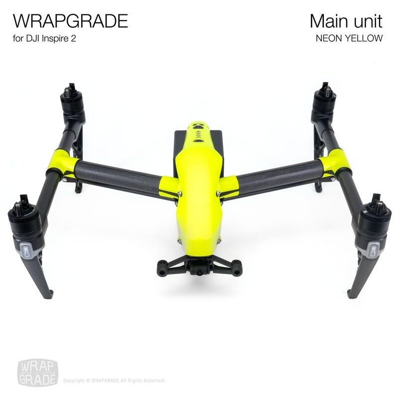 WRAPGRADE for DJI Inspire 2 | Main Unit (NEON YELLOW)