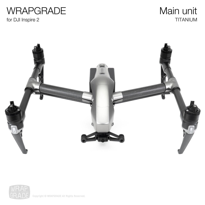 WRAPGRADE for DJI Inspire 2 | Main Unit (TITANIUM)