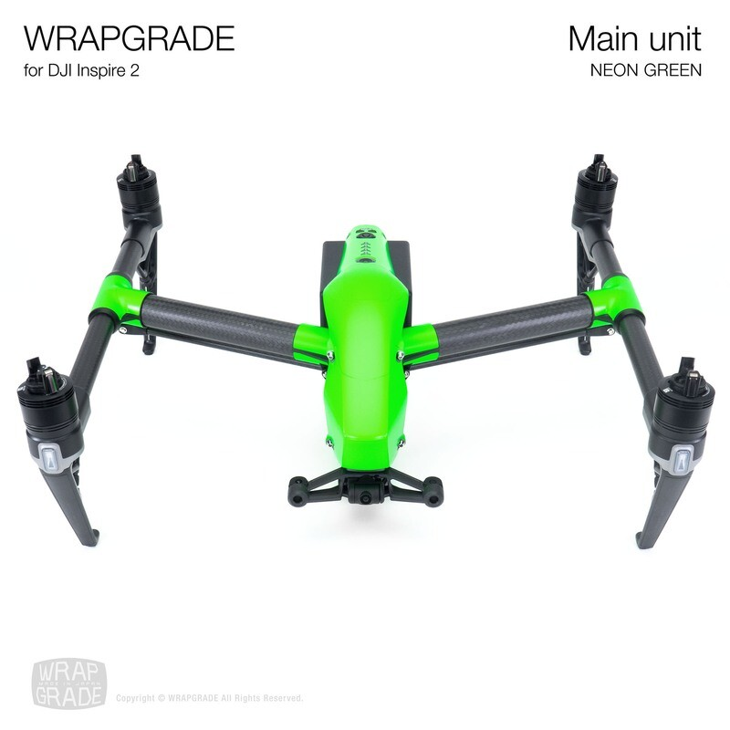 WRAPGRADE for DJI Inspire 2 | Main Unit (NEON GREEN)