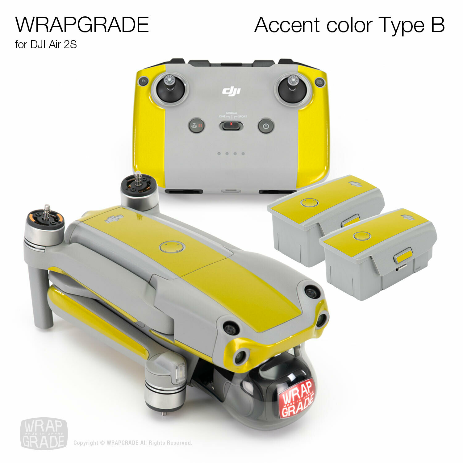 Wrapgrade Skin for DJI Air 2S | Accent Color B [20 colors]