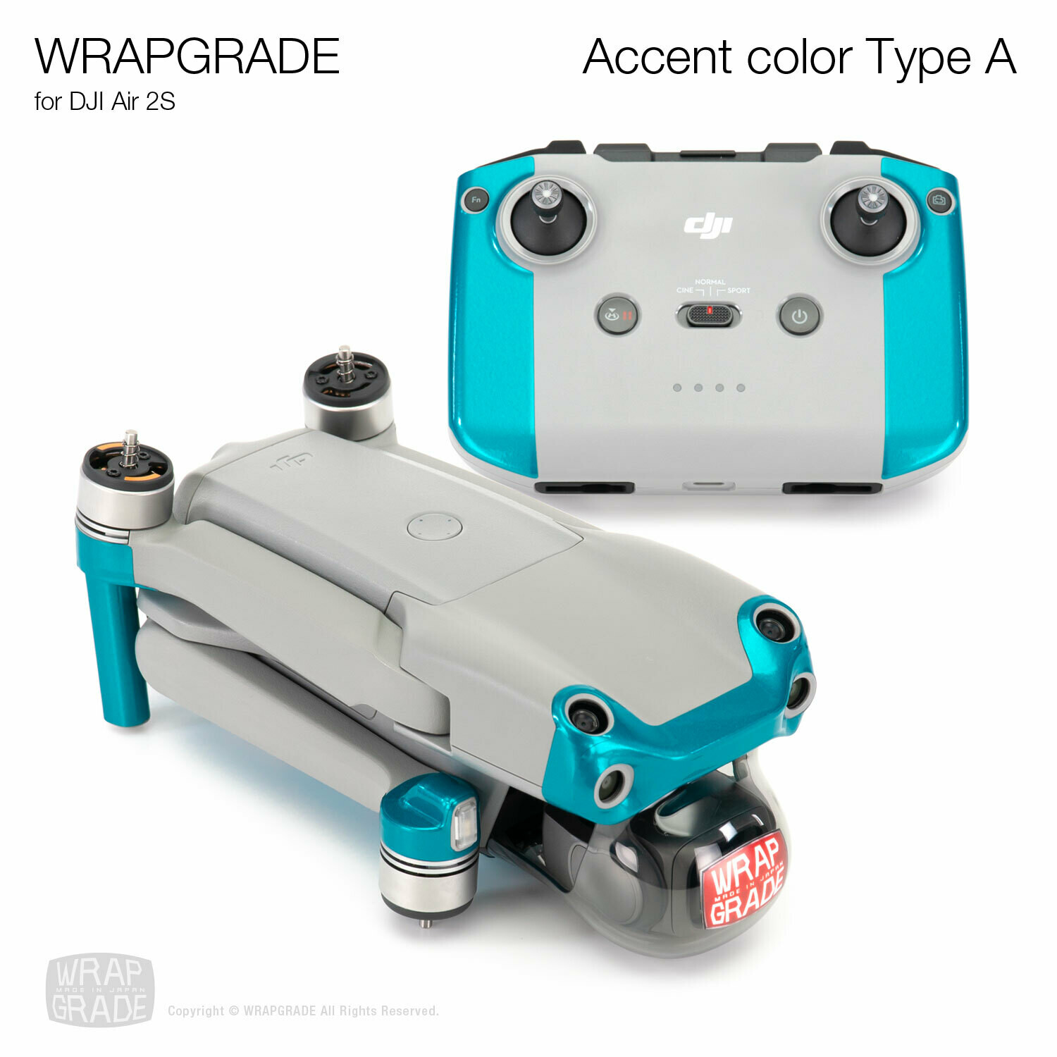 Wrapgrade Skin for DJI Air 2S   Accent Color A [20 colors]