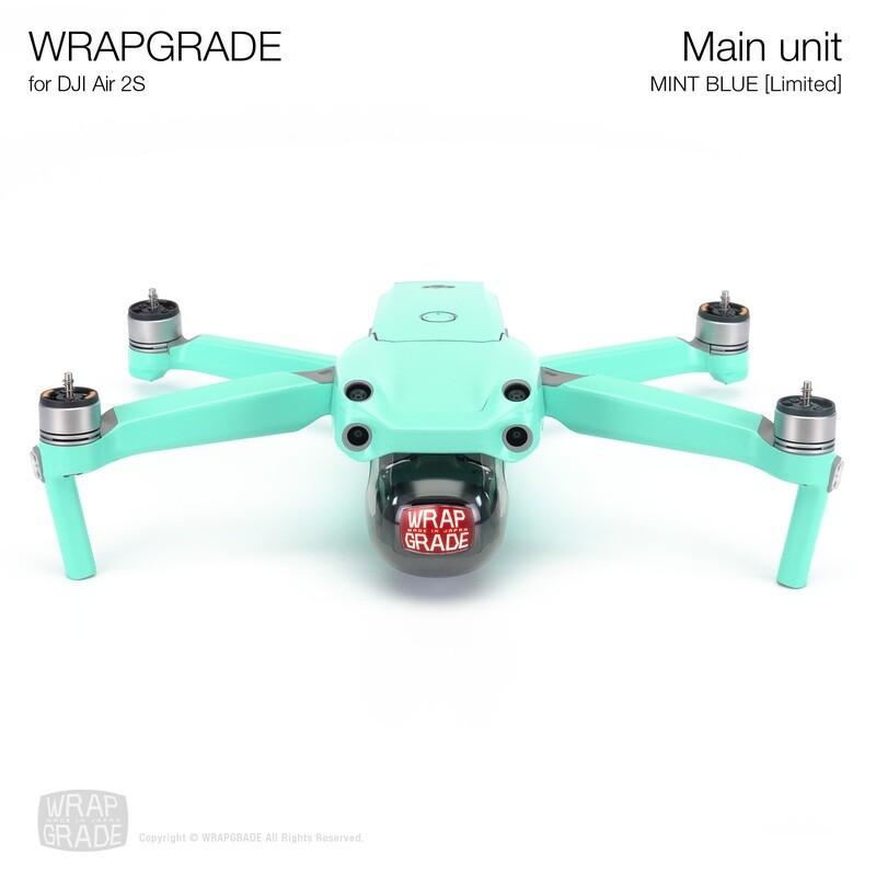Wrapgrade Skin for DJI Air 2S   Main Unit (MINT BLUE)