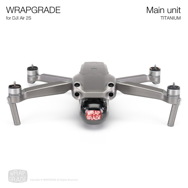 Wrapgrade Skin for DJI Air 2S | Main Unit (TITANIUM)