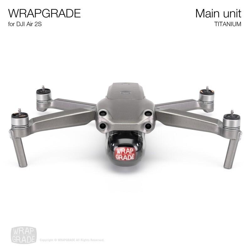 Wrapgrade Skin for DJI Air 2S   Main Unit (TITANIUM)