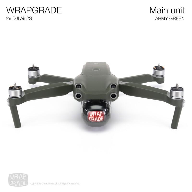 Wrapgrade Skin for DJI Air 2S   Main Unit (ARMY GREEN)