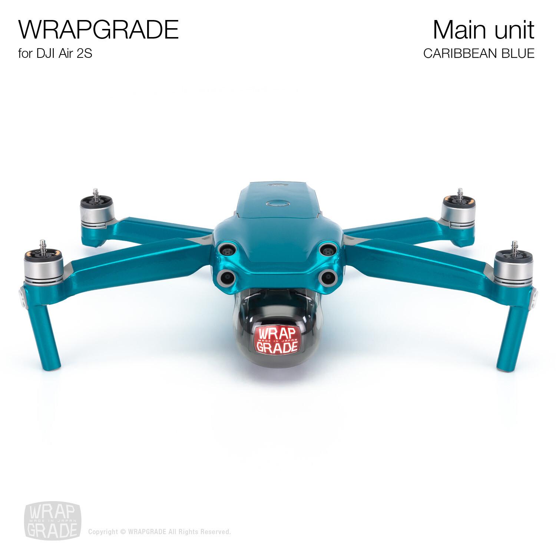 Wrapgrade Skin for DJI Air 2S   Main Unit (CARIBBEAN BLUE)