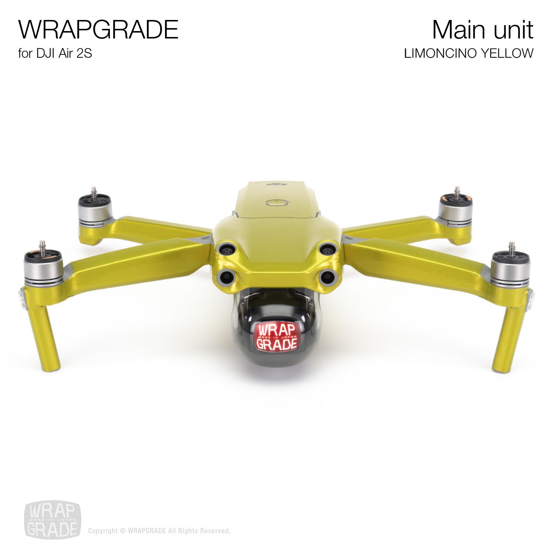 Wrapgrade Skin for DJI Air 2S | Main Unit (LIMONCINO YELLOW)