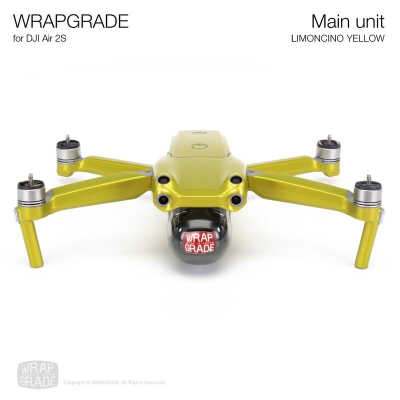 Wrapgrade Skin for DJI Air 2S   Main Unit (LIMONCINO YELLOW)