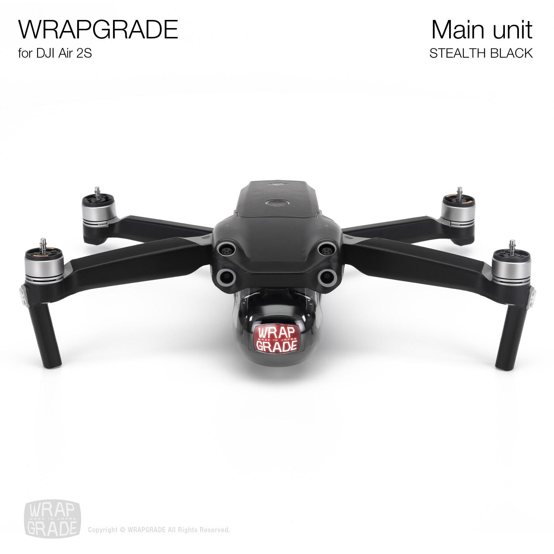 Wrapgrade Skin for DJI Air 2S   Main Unit (STEALTH BLACK)