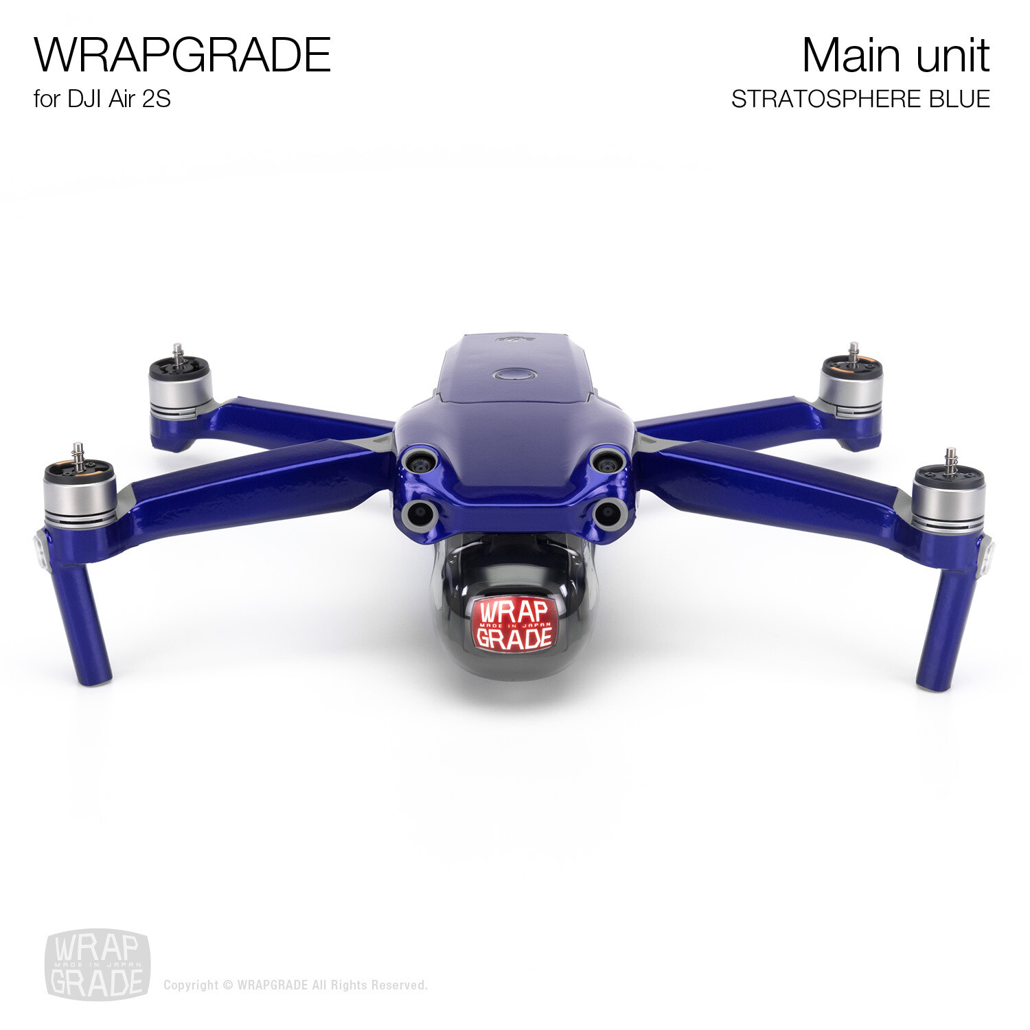 Wrapgrade Skin for DJI Air 2S | Main Unit (STRATOSPHERE BLUE)