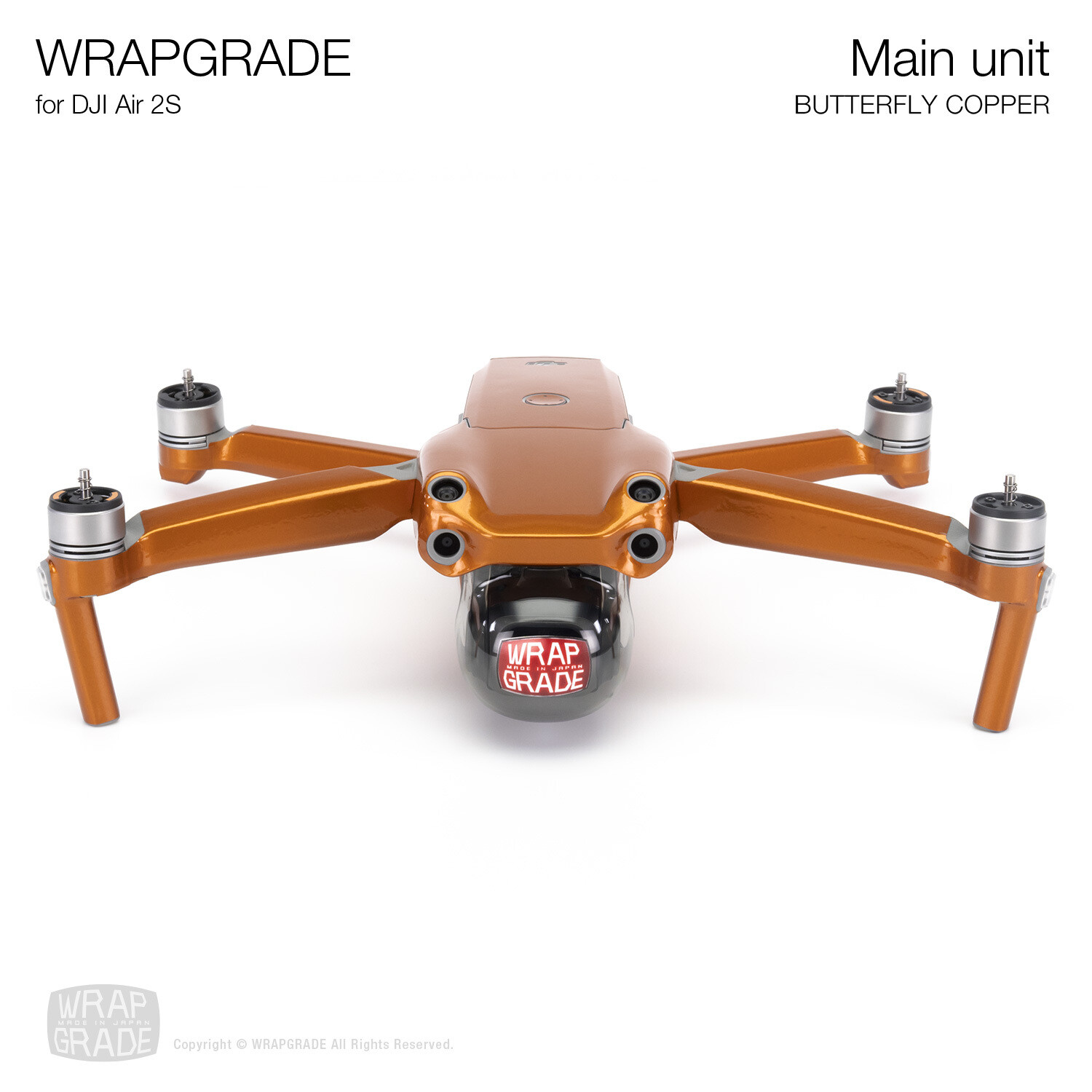 Wrapgrade Skin for DJI Air 2S | Main Unit (BUTTERFLY COPPER)