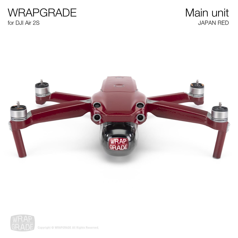 Wrapgrade Skin for DJI Air 2S   Main Unit (JAPAN RED)