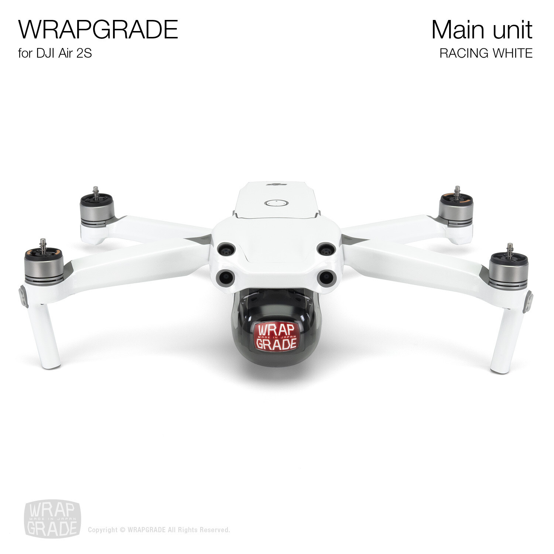 Wrapgrade Skin for DJI Air 2S | Main Unit (RACING WHITE)