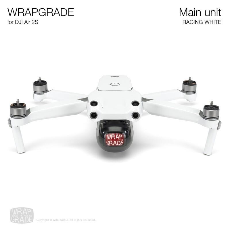 Wrapgrade Skin for DJI Air 2S   Main Unit (RACING WHITE)