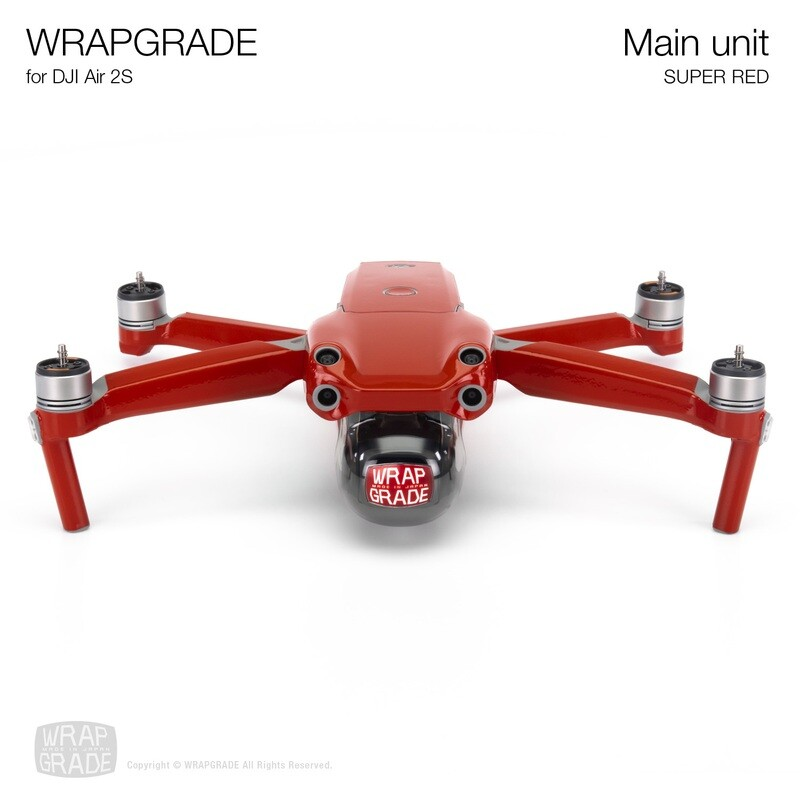 Wrapgrade Skin for DJI Air 2S   Main Unit (SUPER RED)