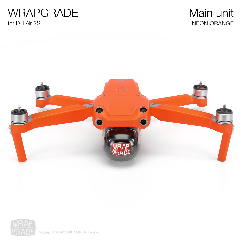 Wrapgrade Skin for DJI Air 2S | Main Unit (NEON ORANGE)