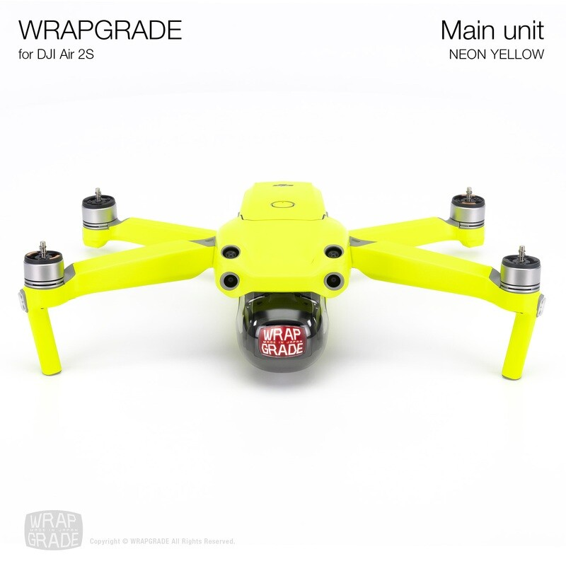 Wrapgrade Skin for DJI Air 2S   Main Unit (NEON YELLOW)