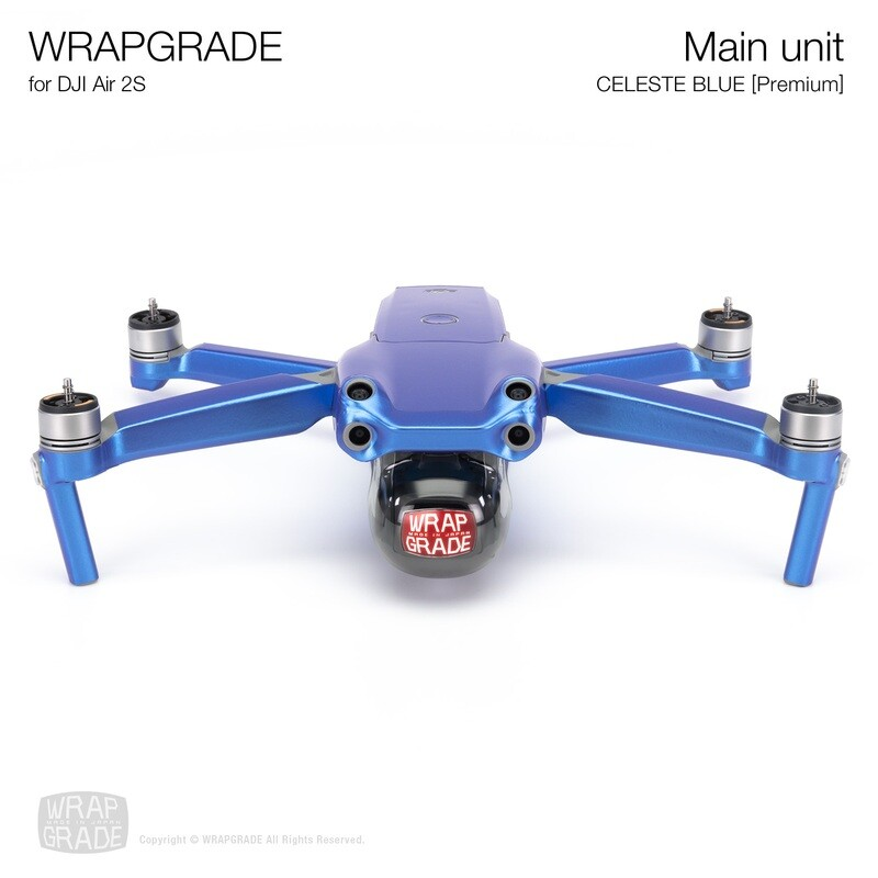 Wrapgrade Skin for DJI Air 2S   Main Unit (CELESTE BLUE)
