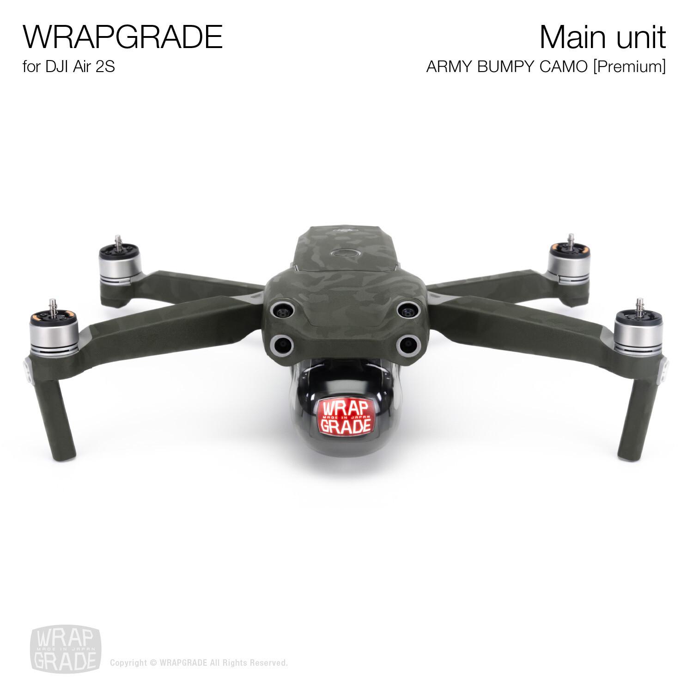 Wrapgrade Skin for DJI Air 2S | Main Unit (ARMY BUMPY CAMO)