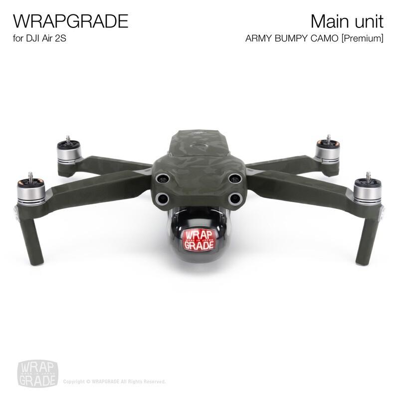 Wrapgrade Skin for DJI Air 2S   Main Unit (ARMY BUMPY CAMO)