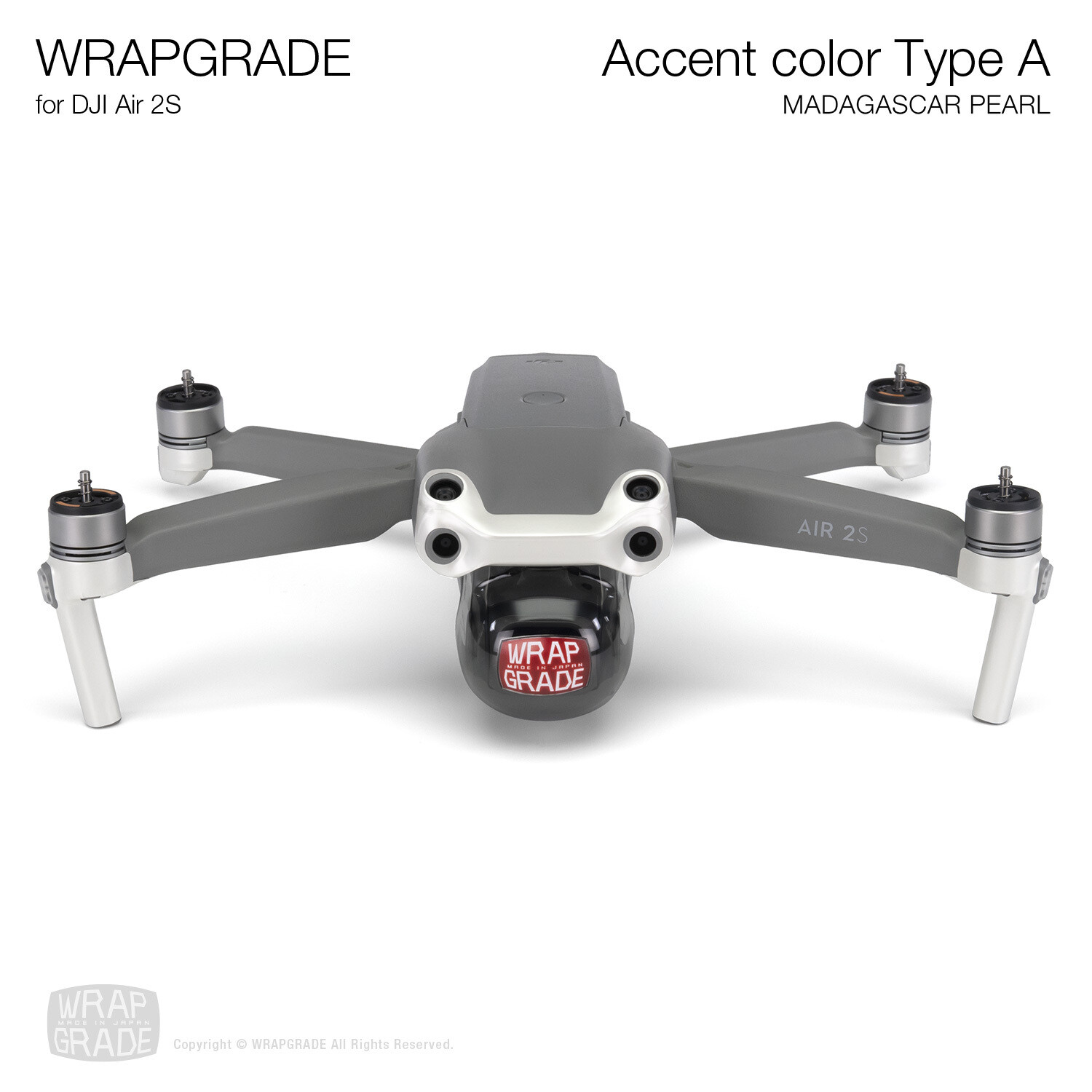 Wrapgrade Skin for DJI Air 2S | Accent Color A (MADAGASCAR PEARL)