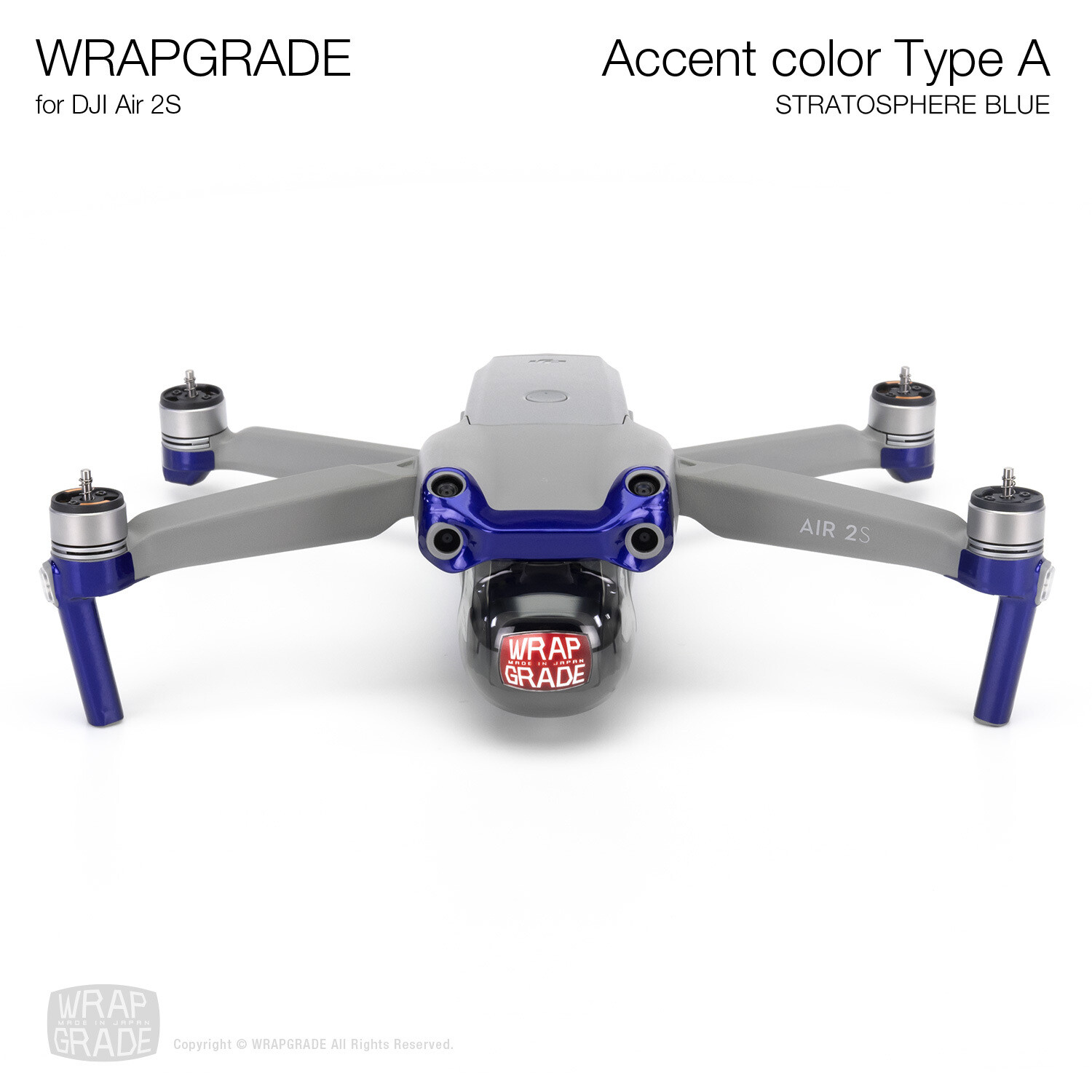 Wrapgrade Skin for DJI Air 2S   Accent Color A (STRATOSPHERE BLUE)