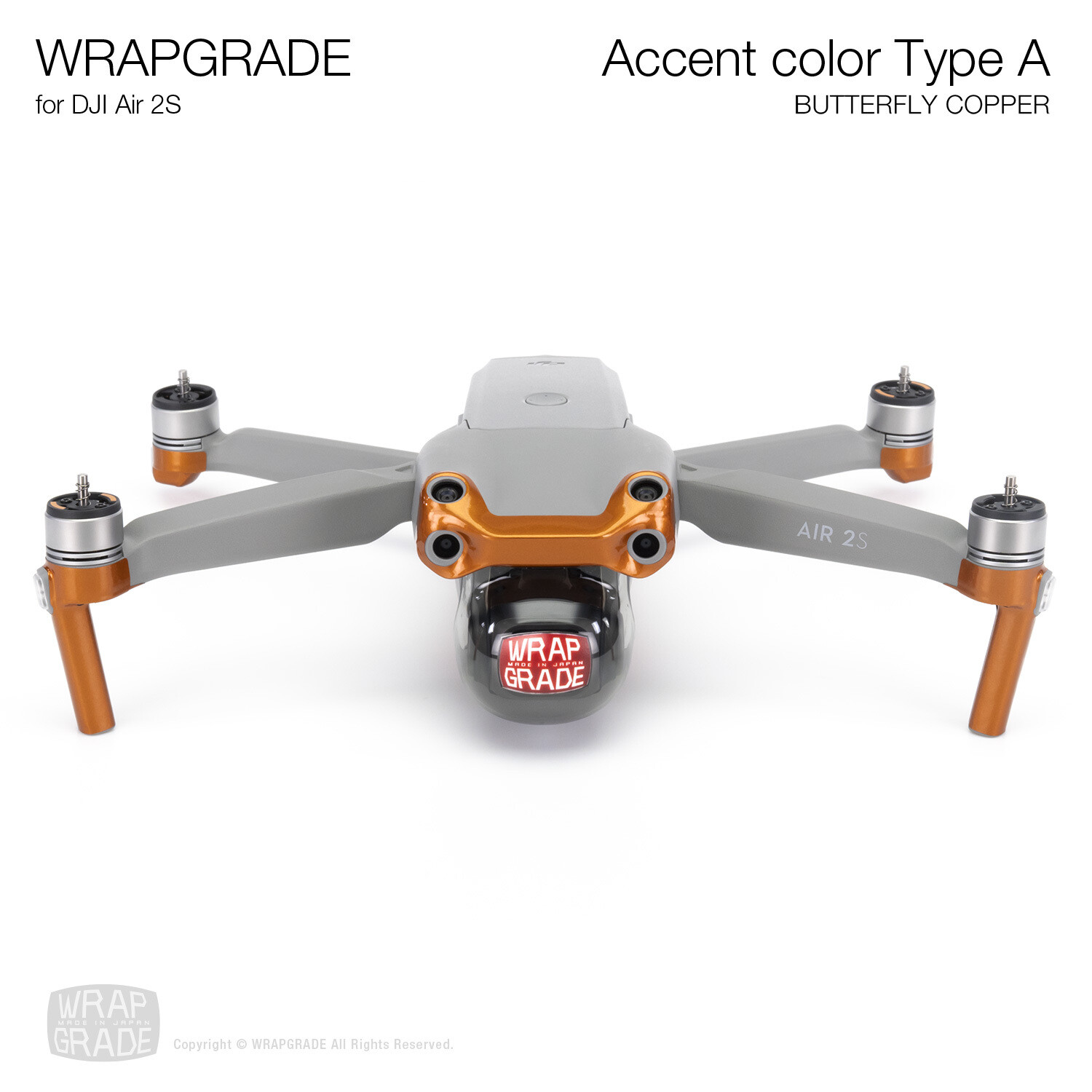 Wrapgrade Skin for DJI Air 2S | Accent Color A (BUTTERFLY COPPER)