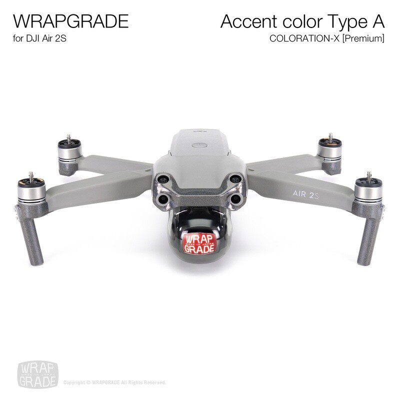 Wrapgrade Skin for DJI Air 2S   Accent Color A (COLORATION-X)