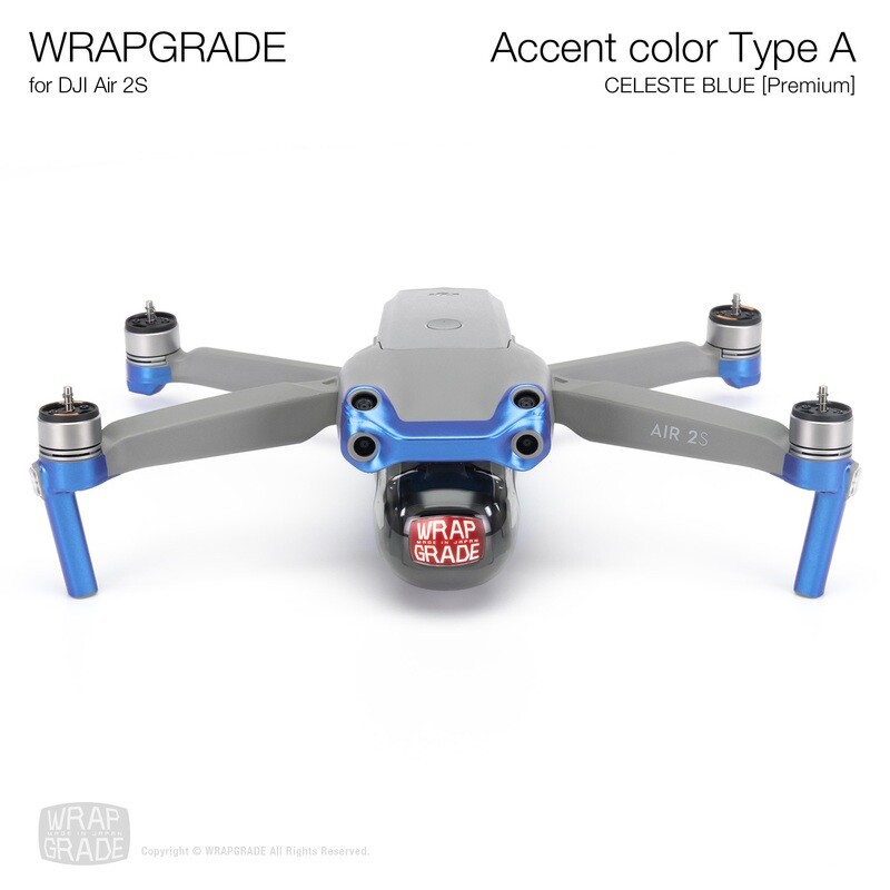 Wrapgrade Skin for DJI Air 2S   Accent Color A (CELESTE BLUE)
