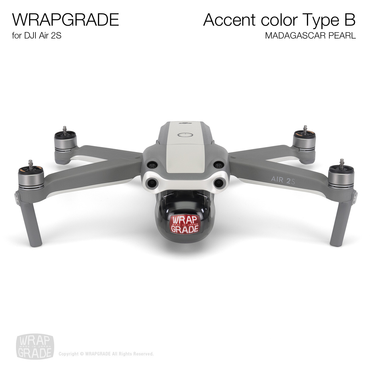 Wrapgrade Skin for DJI Air 2S   Accent Color B (MADAGASCAR PEARL)