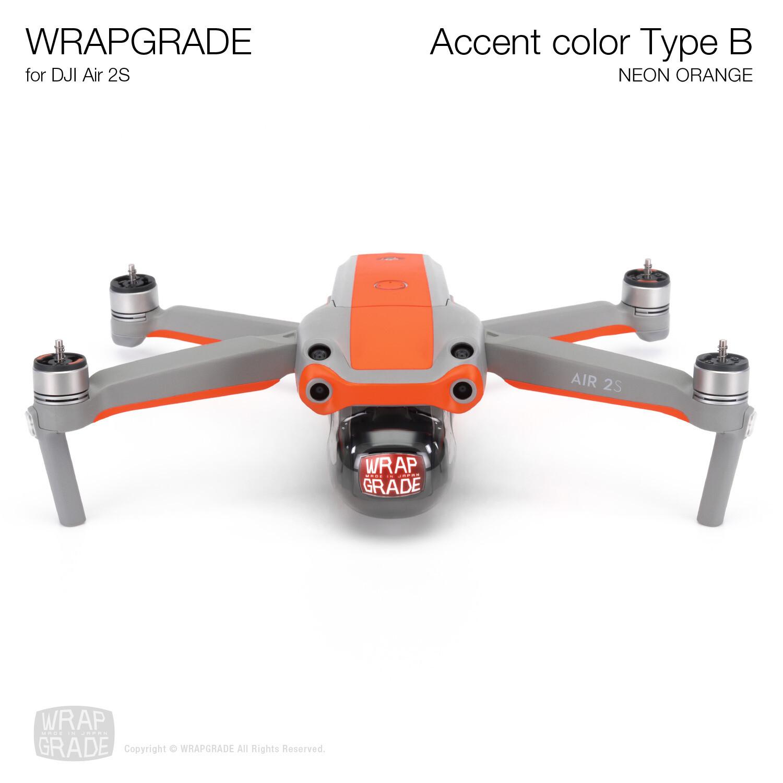 Wrapgrade Skin for DJI Air 2S | Accent Color B (NEON ORANGE)