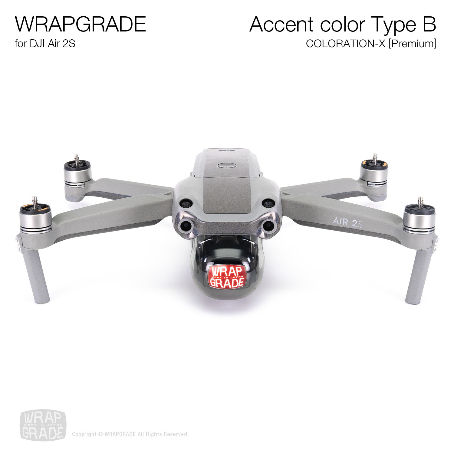 Wrapgrade Skin for DJI Air 2S | Accent Color B (COLORATION-X)