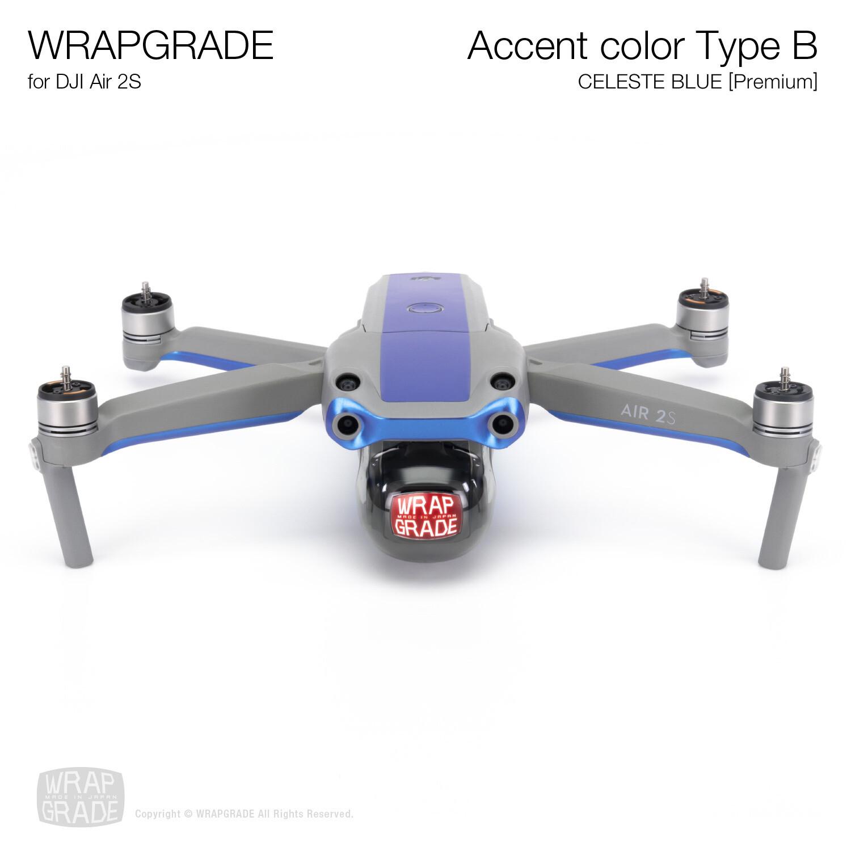 Wrapgrade Skin for DJI Air 2S | Accent Color B (CELESTE BLUE)