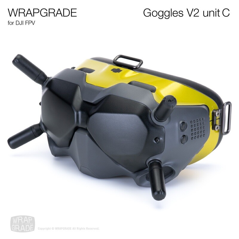 WRAPGRADE for DJI FPV   Goggles V2 Unit C [20 colors]