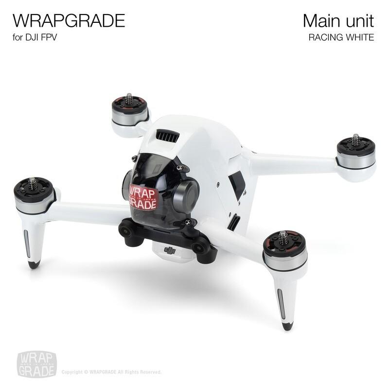 WRAPGRADE for DJI FPV   Drone (RACING WHITE)