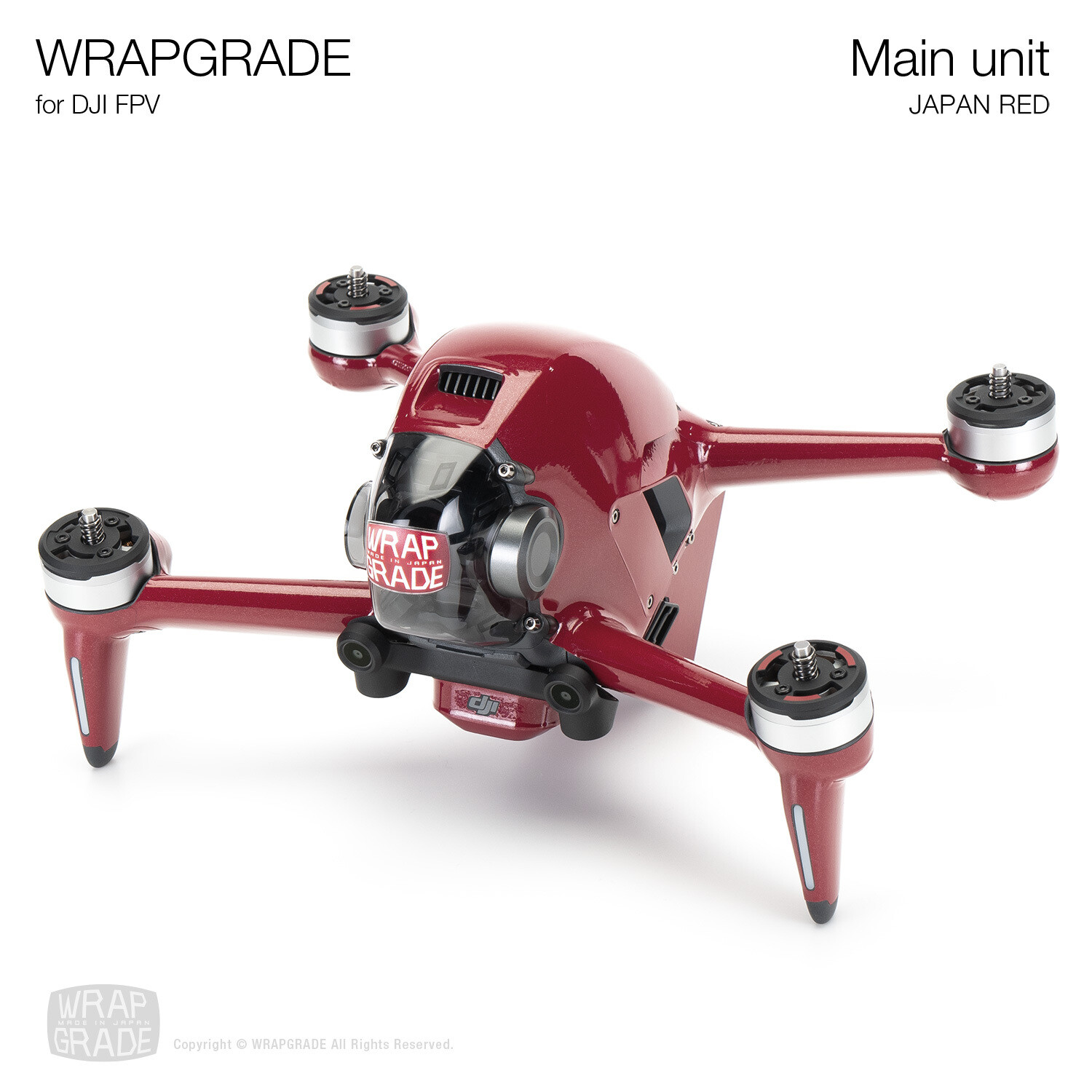 WRAPGRADE for DJI FPV | Drone (JAPAN RED)
