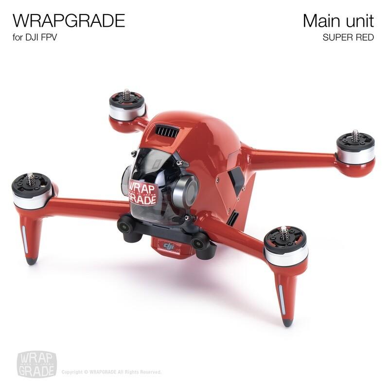 WRAPGRADE for DJI FPV   Drone (SUPER RED)