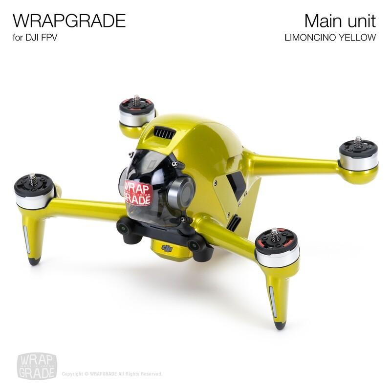 WRAPGRADE for DJI FPV   Drone (LIMONCINO YELLOW)