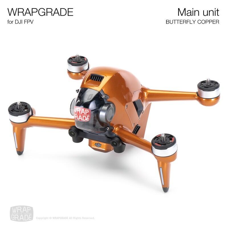 WRAPGRADE for DJI FPV   Drone (BUTTERFLY COPPER)