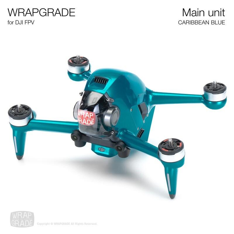 WRAPGRADE for DJI FPV   Drone (CARIBBEAN BLUE)