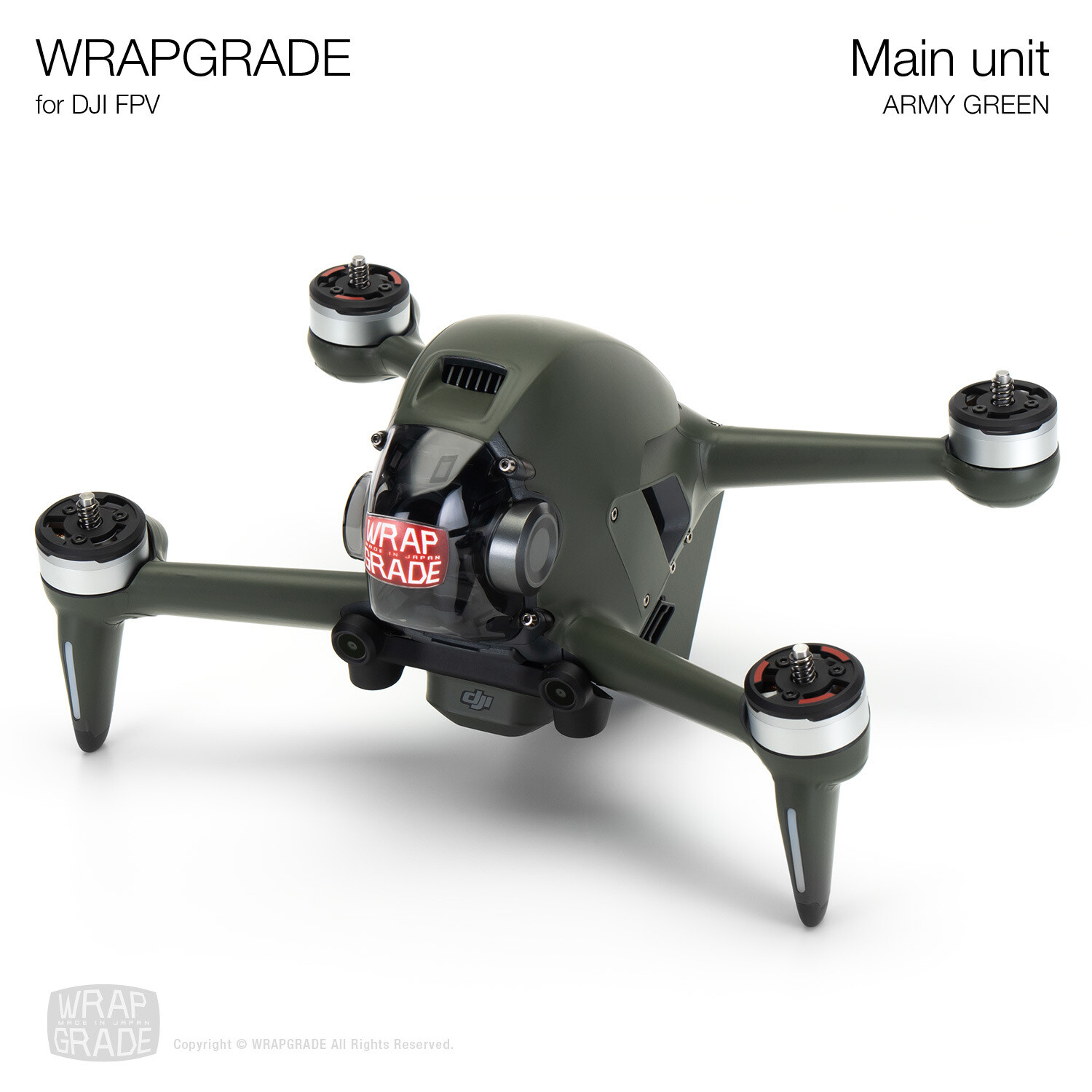 WRAPGRADE for DJI FPV   Drone (ARMY GREEN)