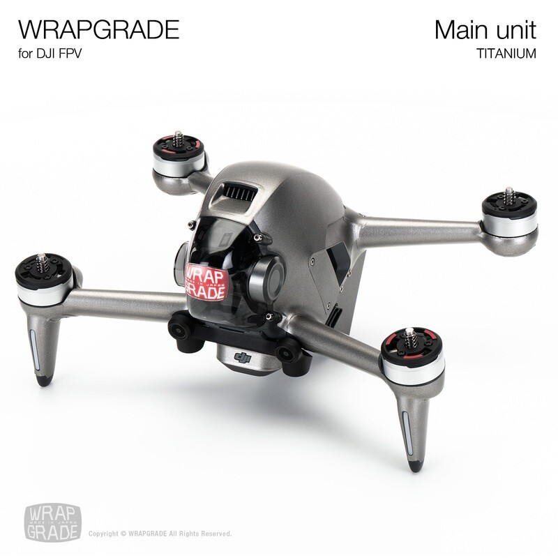 WRAPGRADE for DJI FPV   Drone (TITANIUM)