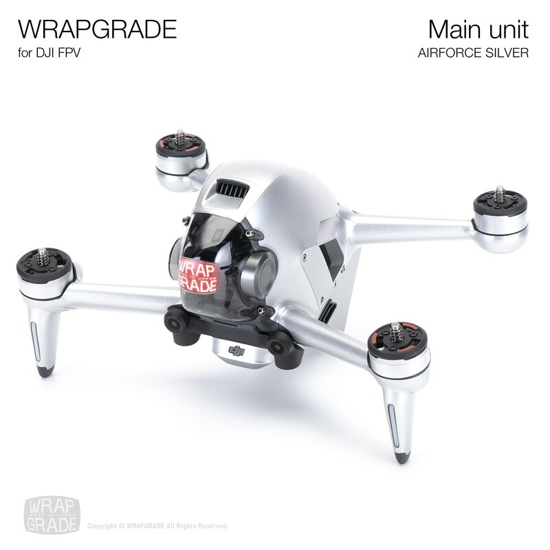 WRAPGRADE for DJI FPV   Drone (AIRFORCE SILVER)