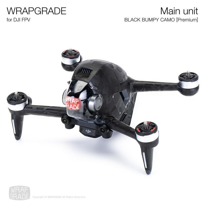 WRAPGRADE for DJI FPV   Drone (BLACK BUMPY CAMO) 【Premium】